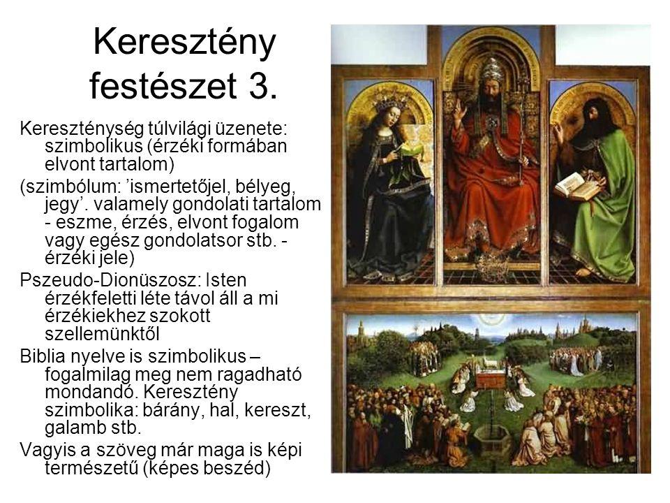 Keresztény festészet 3. Kereszténység túlvilági üzenete: szimbolikus (érzéki formában elvont tartalom)