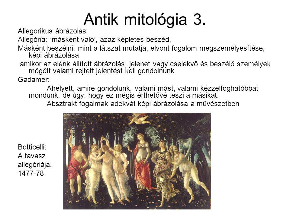 Antik mitológia 3. Allegorikus ábrázolás