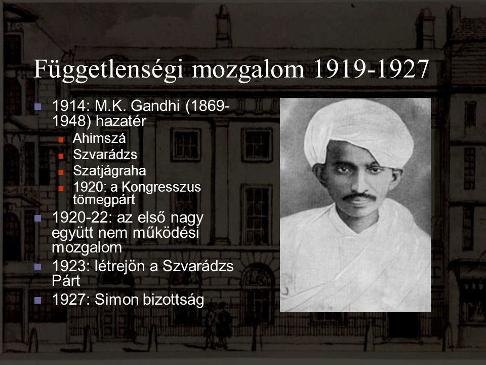 Függetlenségi mozgalom 1919-1927