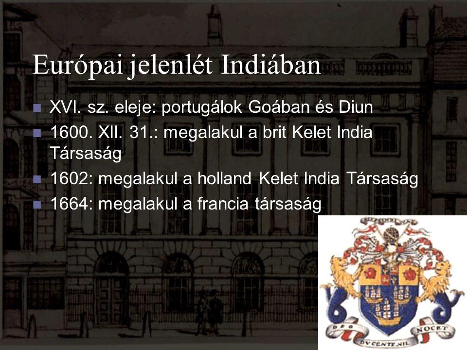 Európai jelenlét Indiában