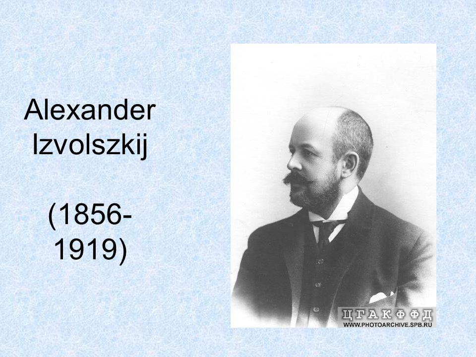 Alexander Izvolszkij (1856-1919)