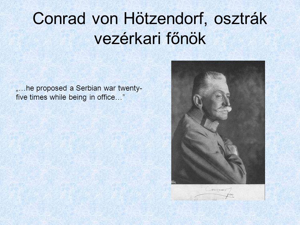 Conrad von Hötzendorf, osztrák vezérkari főnök