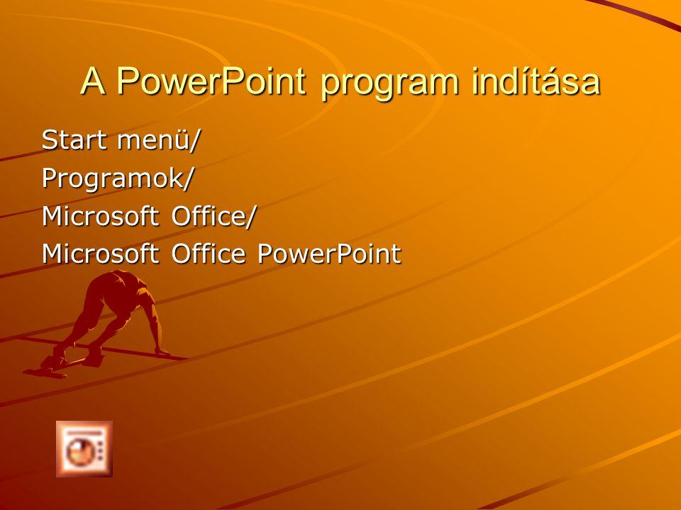 A PowerPoint program indítása