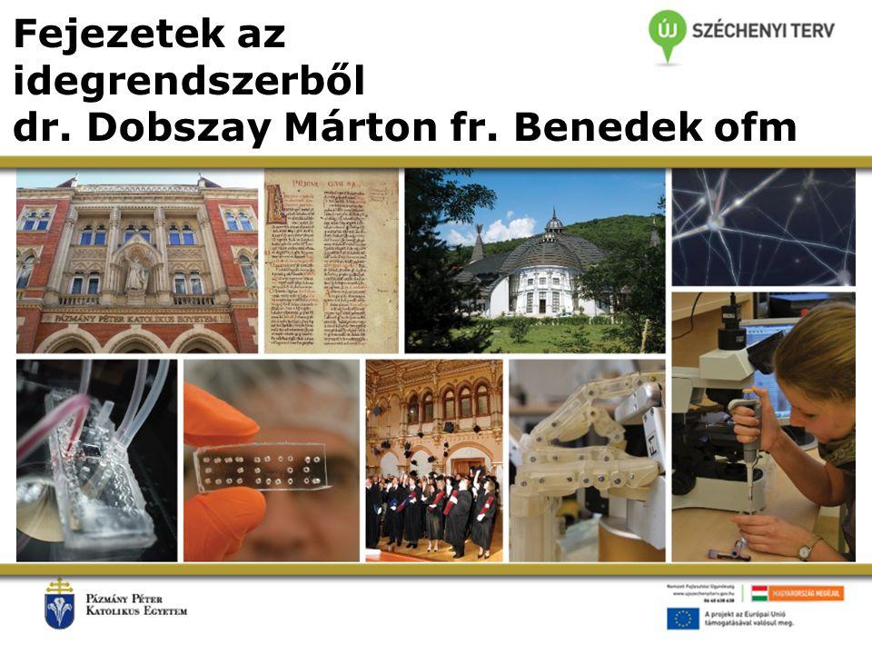 Fejezetek az idegrendszerből dr. Dobszay Márton fr. Benedek ofm