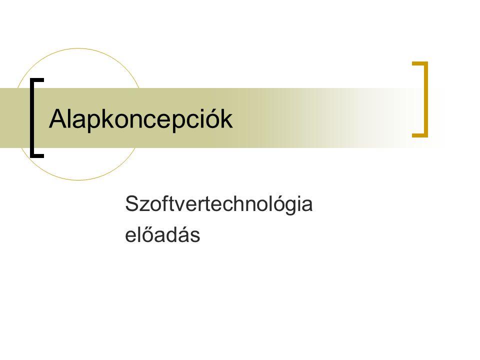 Szoftvertechnológia előadás