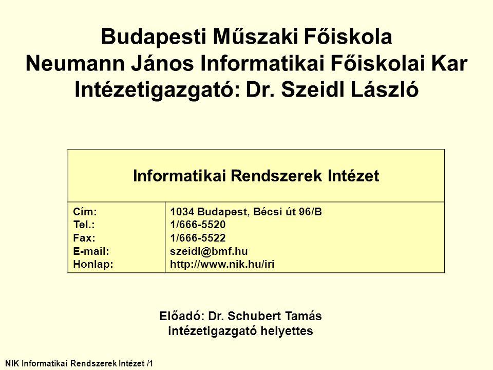 Budapesti Műszaki Főiskola Neumann János Informatikai Főiskolai Kar