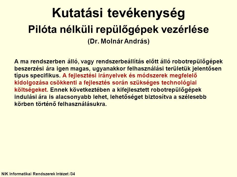 NIK Informatikai Rendszerek Intézet /34
