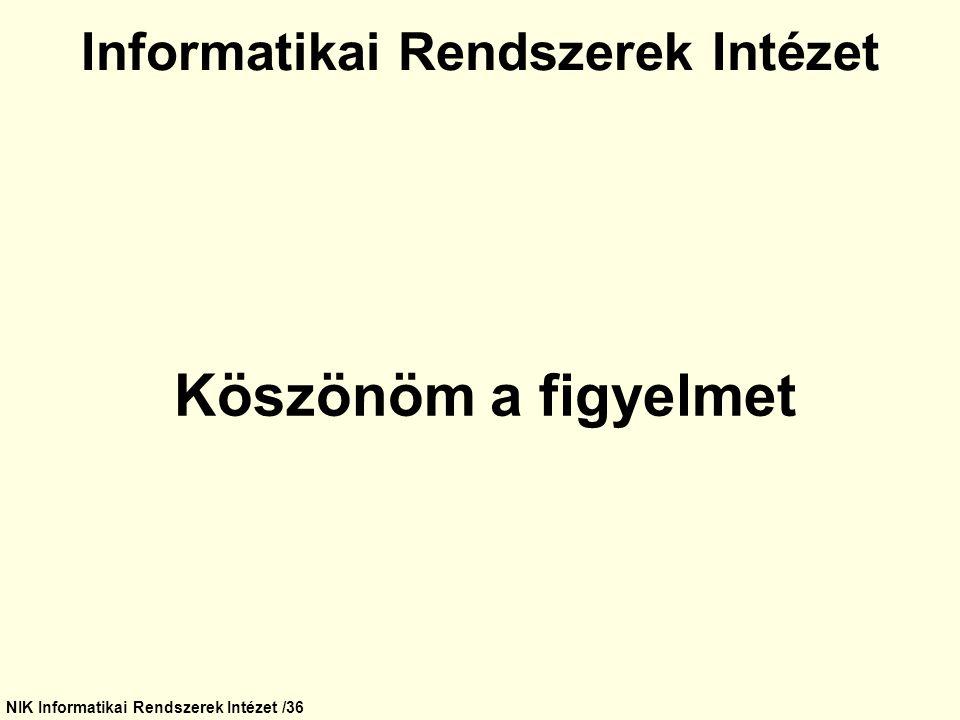 Informatikai Rendszerek Intézet
