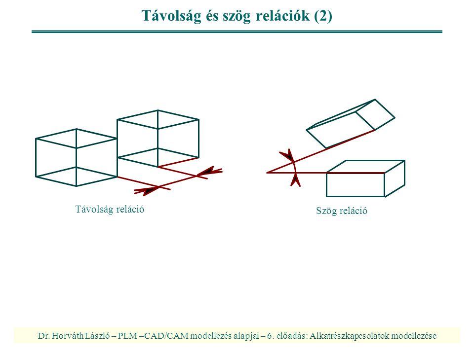 Távolság és szög relációk (2)