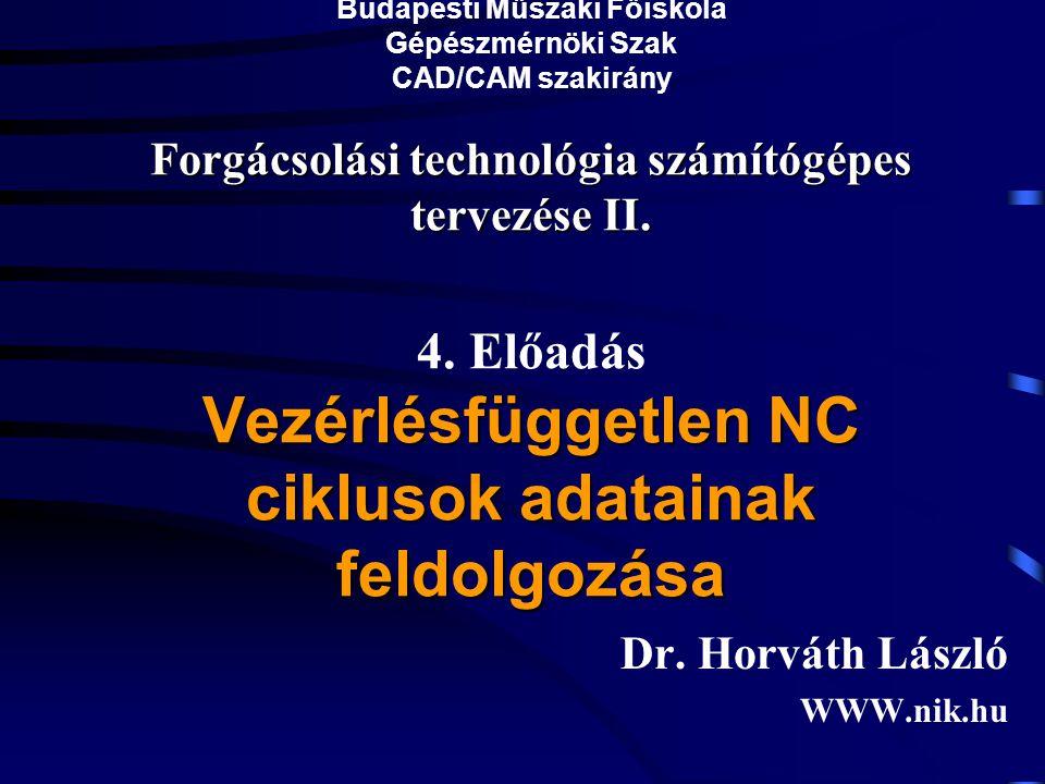 Dr. Horváth László WWW.nik.hu