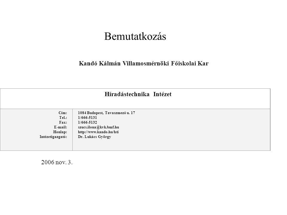 Kandó Kálmán Villamosmérnöki Főiskolai Kar
