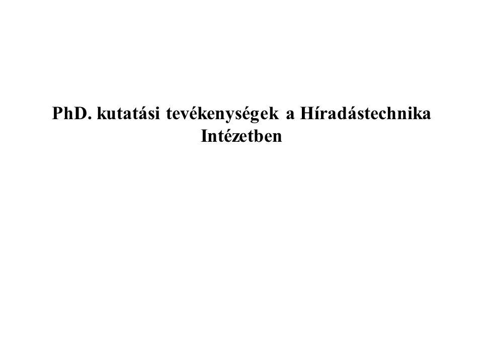 PhD. kutatási tevékenységek a Híradástechnika Intézetben