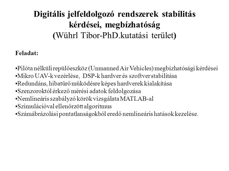 Digitális jelfeldolgozó rendszerek stabilitás kérdései, megbízhatóság (Wührl Tibor-PhD.kutatási terület)