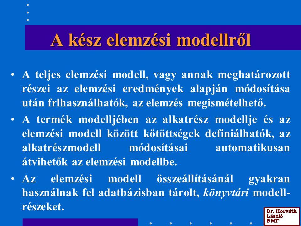 A kész elemzési modellről