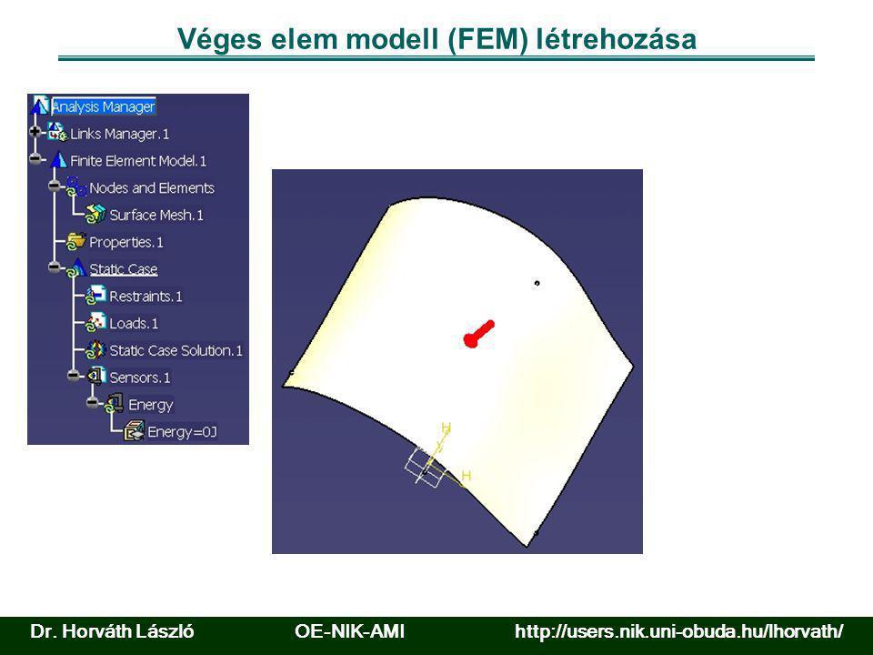 Véges elem modell (FEM) létrehozása