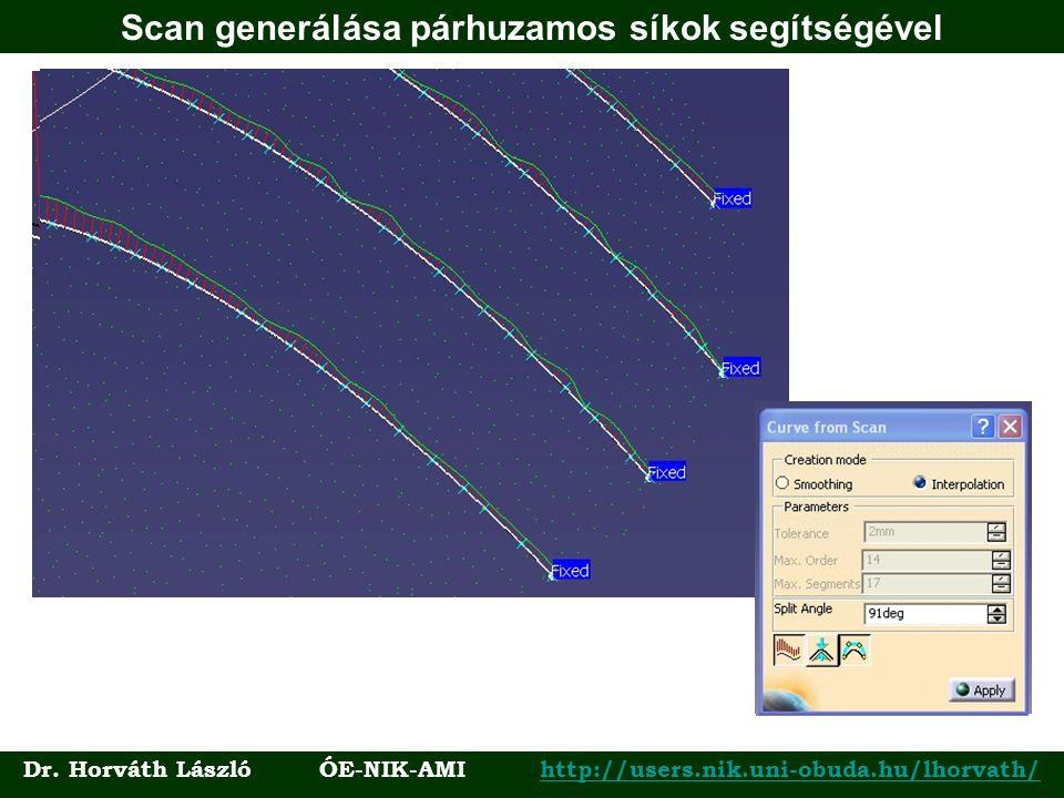 Scan generálása párhuzamos síkok segítségével