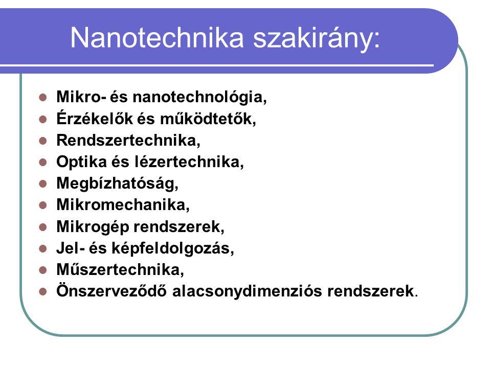 Nanotechnika szakirány: