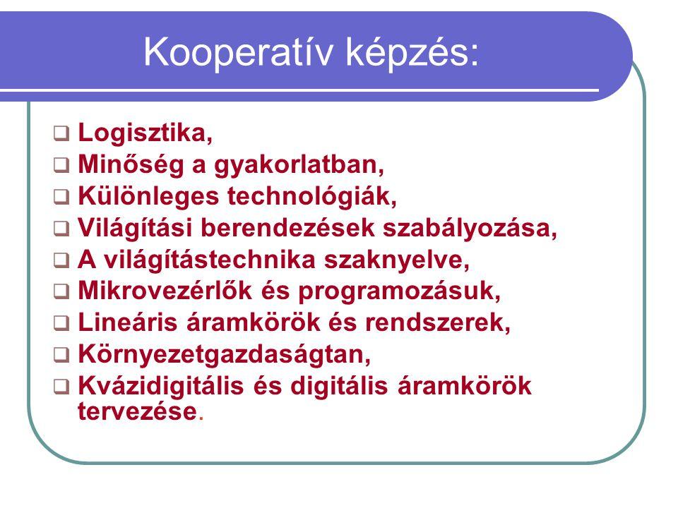 Kooperatív képzés: Logisztika, Minőség a gyakorlatban,