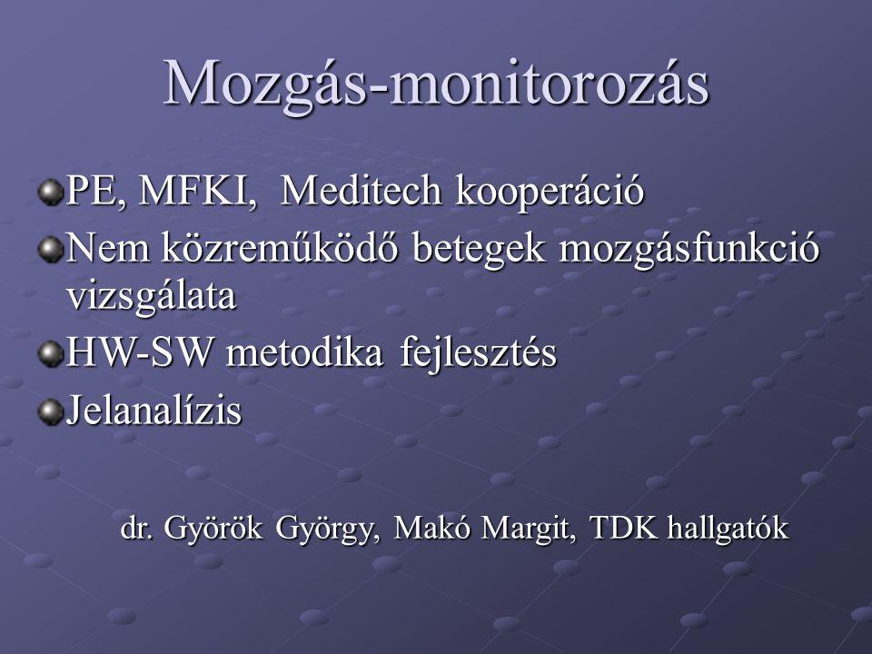 Mozgás-monitorozás PE, MFKI, Meditech kooperáció