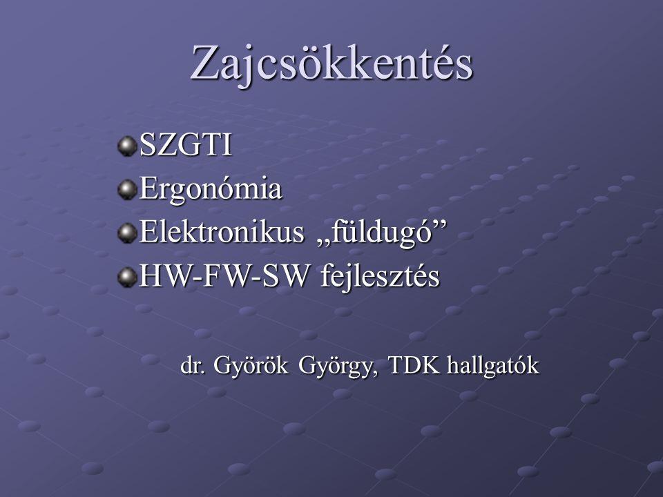 """Zajcsökkentés SZGTI Ergonómia Elektronikus """"füldugó"""