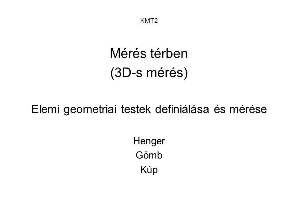 Elemi geometriai testek definiálása és mérése