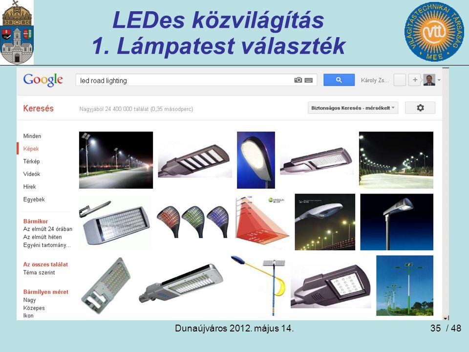 LEDes közvilágítás 1. Lámpatest választék