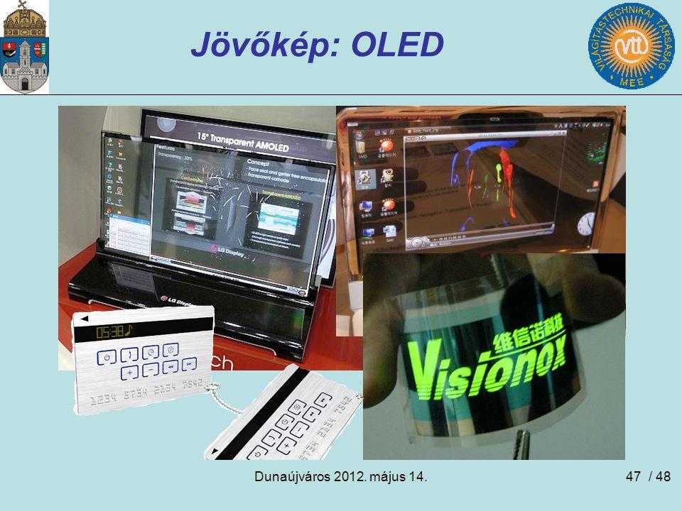 Jövőkép: OLED Dunaújváros 2012. május 14. / 48