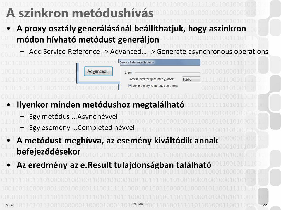 A szinkron metódushívás