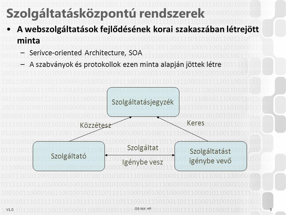 Szolgáltatásközpontú rendszerek