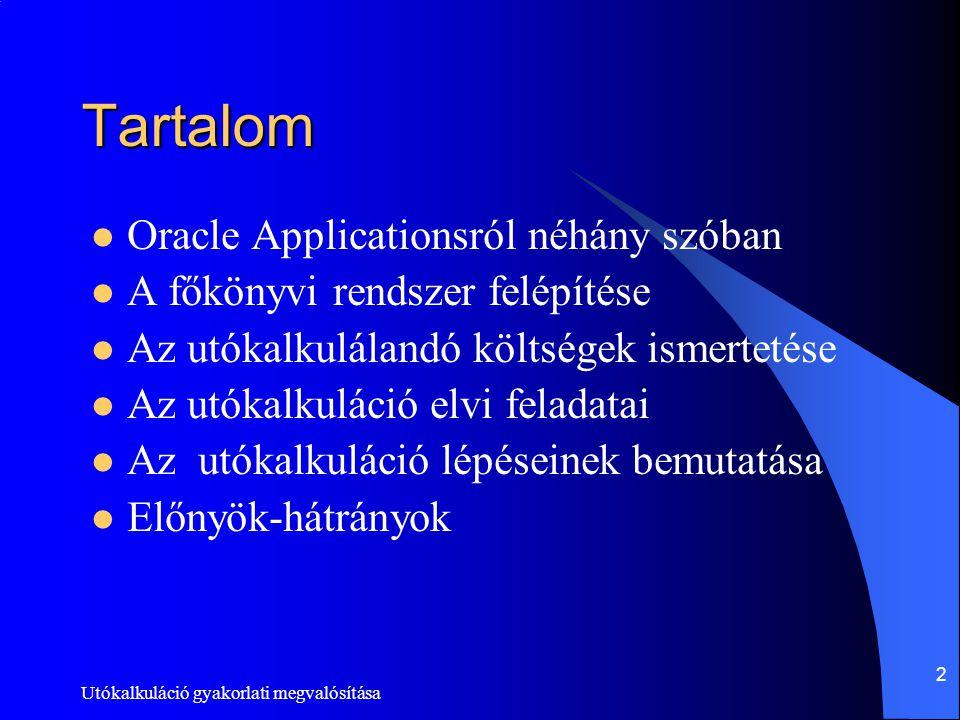 Tartalom Oracle Applicationsról néhány szóban