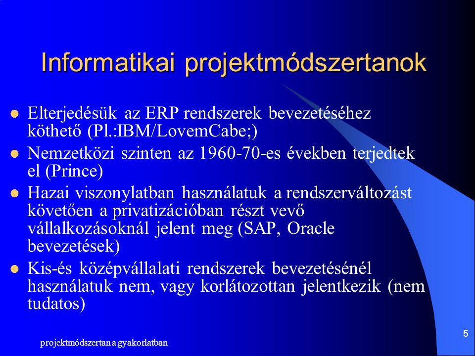 Informatikai projektmódszertanok
