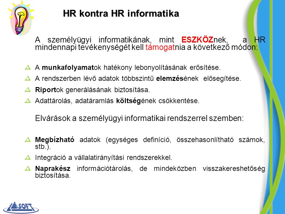 HR kontra HR informatika