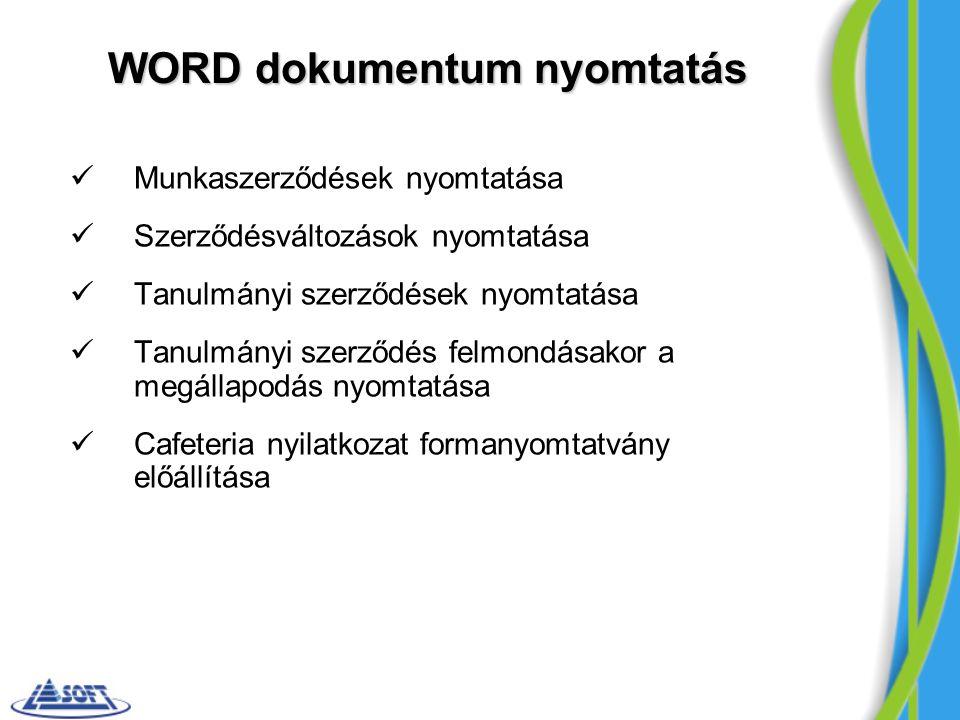 WORD dokumentum nyomtatás