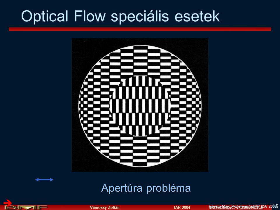 Optical Flow speciális esetek