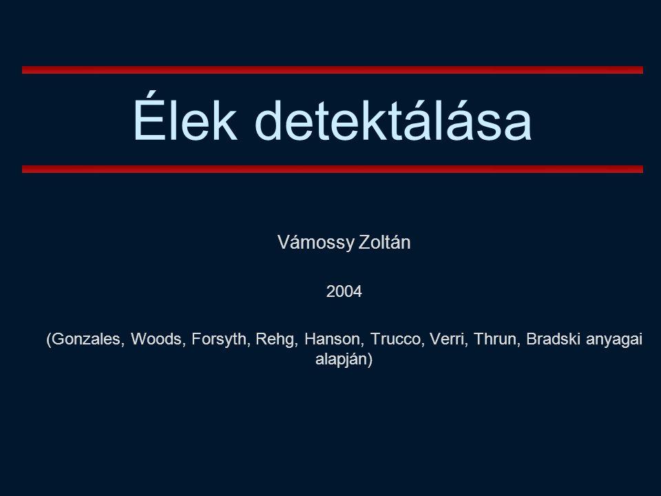 Élek detektálása Vámossy Zoltán 2004
