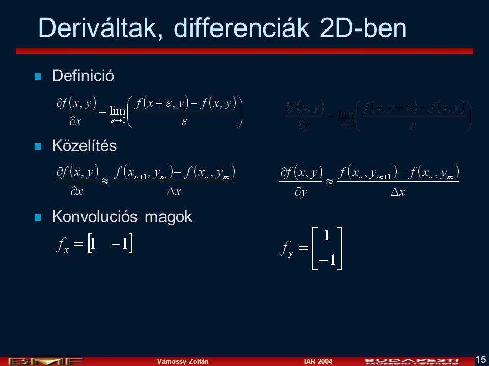 Deriváltak, differenciák 2D-ben