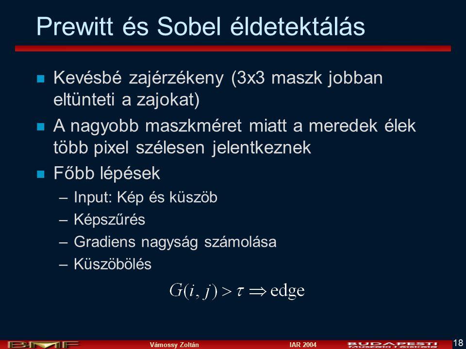 Prewitt és Sobel éldetektálás