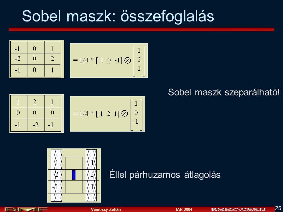 Sobel maszk: összefoglalás