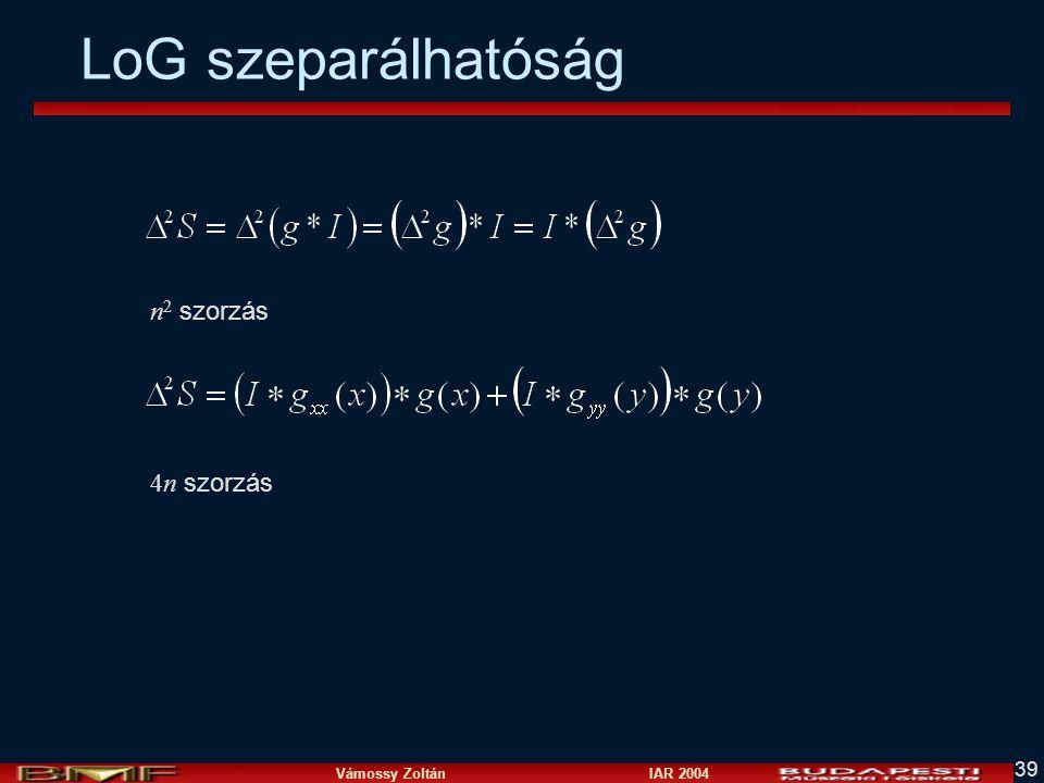 LoG szeparálhatóság n2 szorzás 4n szorzás