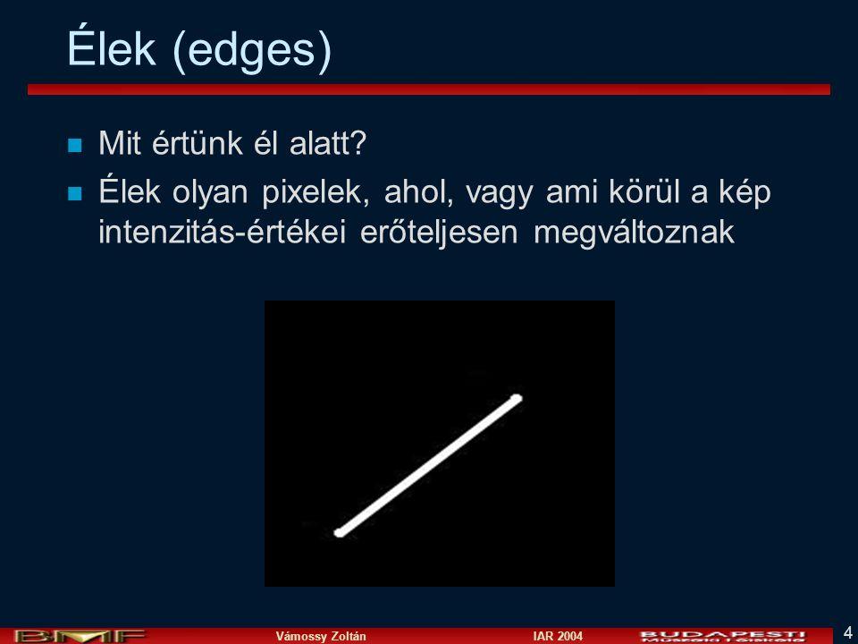 Élek (edges) Mit értünk él alatt