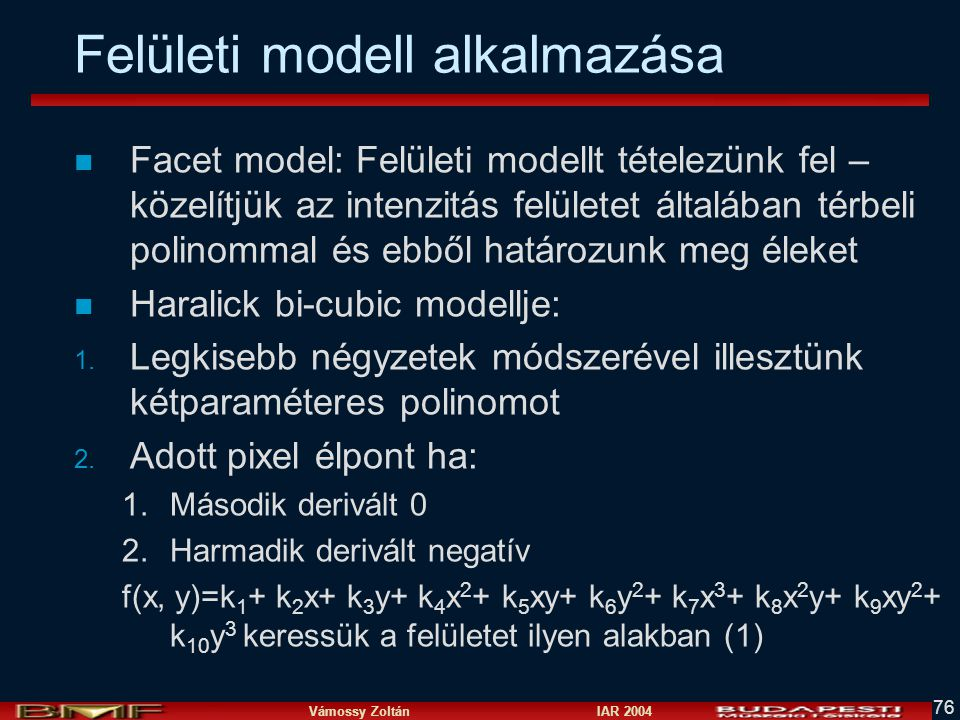 Felületi modell alkalmazása