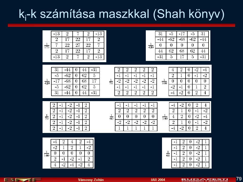 ki-k számítása maszkkal (Shah könyv)