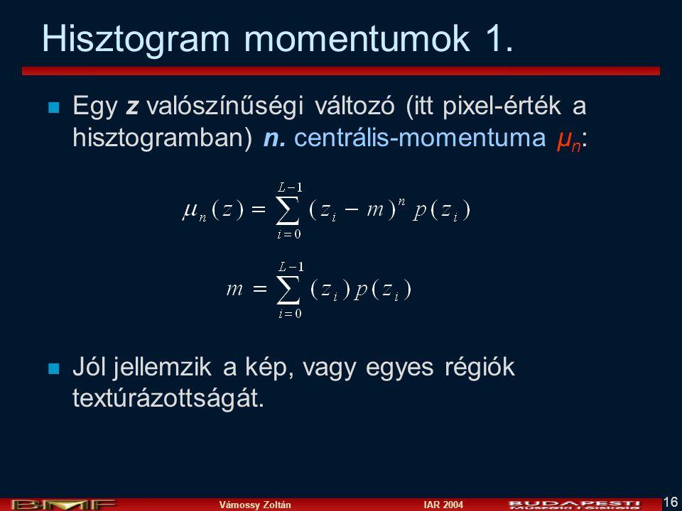 Hisztogram momentumok 1.