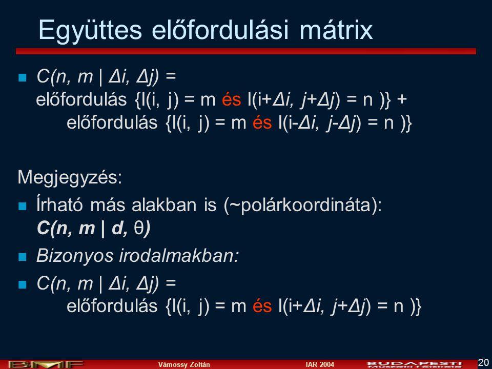 Együttes előfordulási mátrix