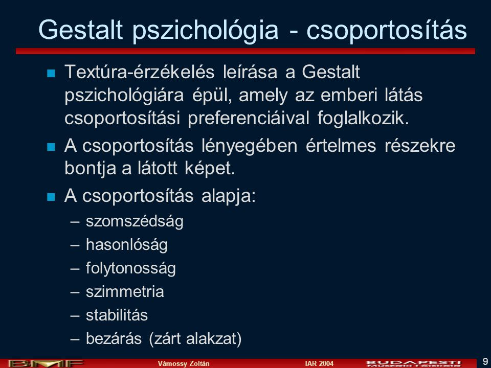 Gestalt pszichológia - csoportosítás