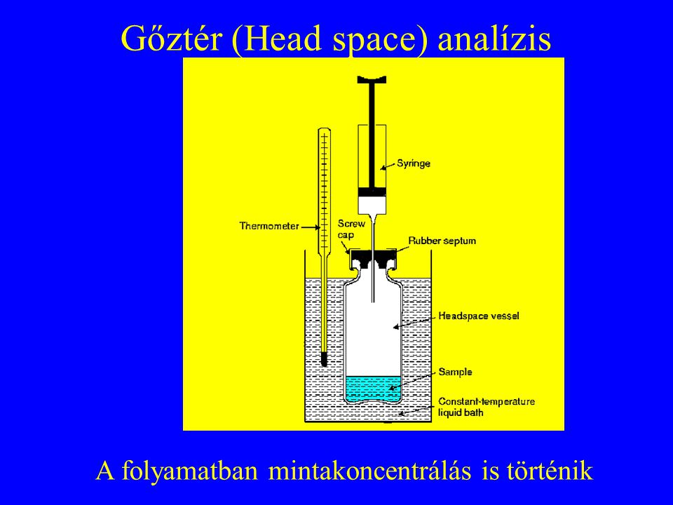 Gőztér (Head space) analízis