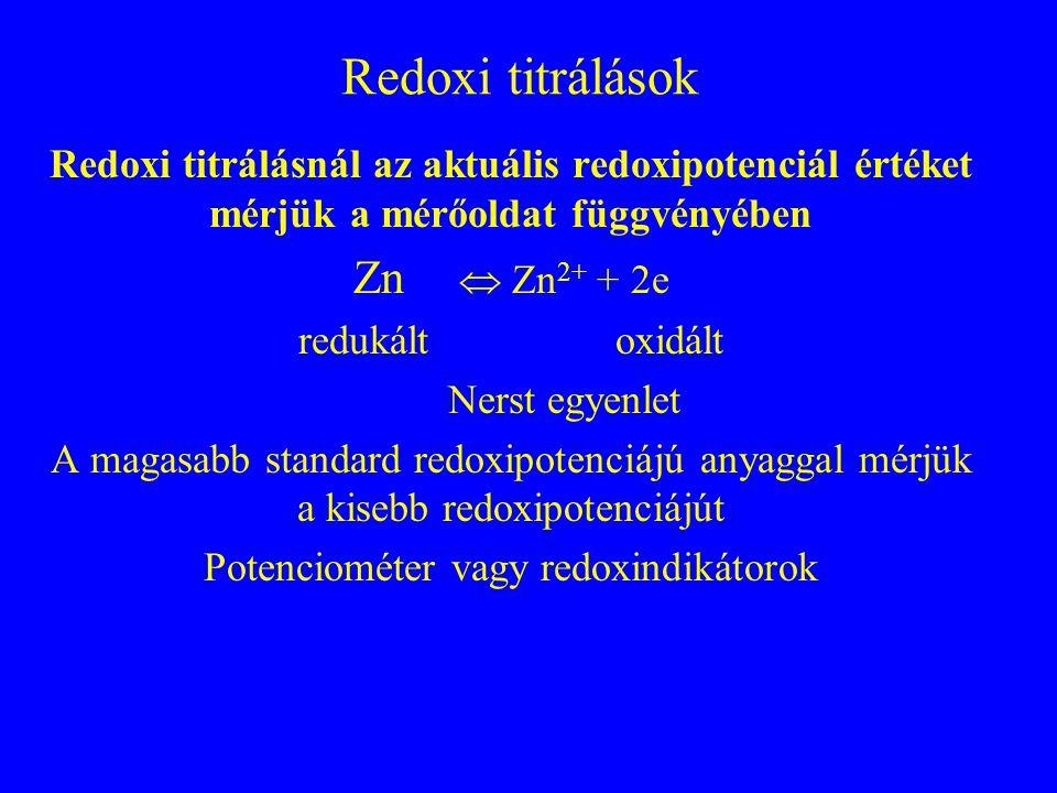 Potenciométer vagy redoxindikátorok