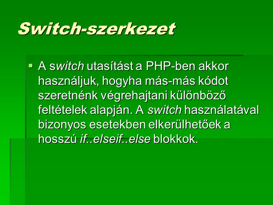 Switch-szerkezet