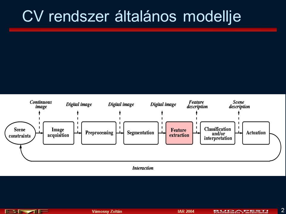 CV rendszer általános modellje