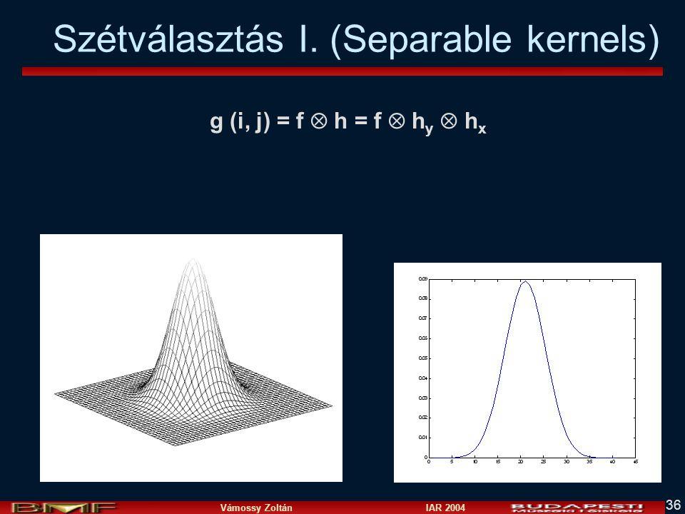 Szétválasztás I. (Separable kernels)